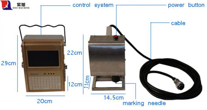 Steel Stamping Portable Engraving Machine For Vehicle Chassis Number Punching