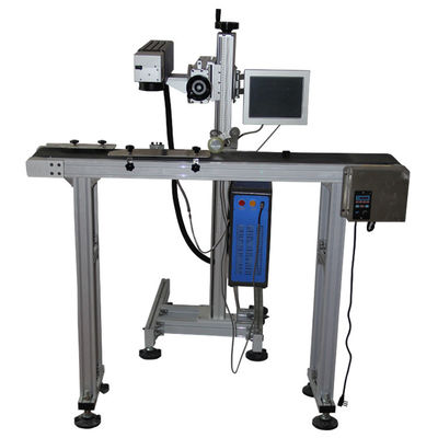 China 0.15mm Minimum Character Flying Laser Marking Machine 20 Watt for pvc supplier