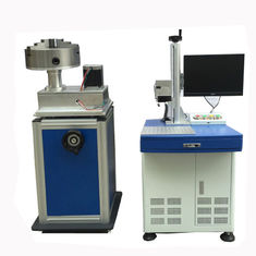 China Rotary Cnc Laser Marking Device  200X200MM Logo , 50 Watt Fiber Laser supplier