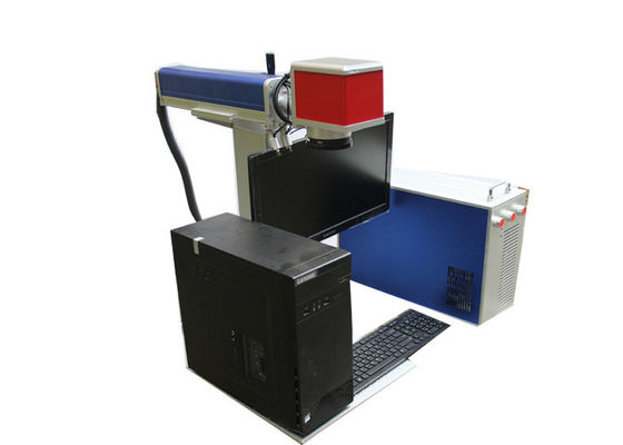 China Red And Blue Mini Laser Marking Machine / Small Laser Engraver French Language supplier