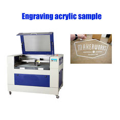 China 40 W Co2 Laser Engraver , Small Size Laser Engraving Equipment High Speed supplier