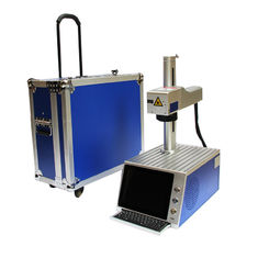 China Galvo Head Mini Laser Engraver Etching Machine For Metal , Energy Saving supplier