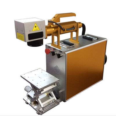 China 100X100MM Portable Laser Engraving Machine For Stainless Steel , Laser Marking Device distributor