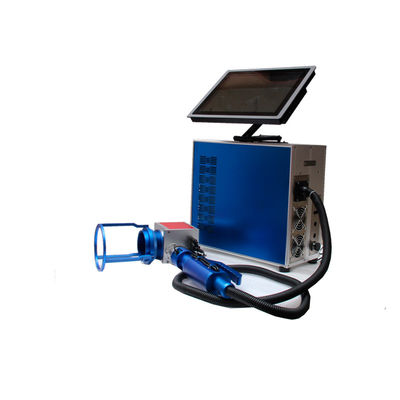 China Blue Colour 30w Small Laser Etching Equipment , Metal Laser Engraving Machine distributor