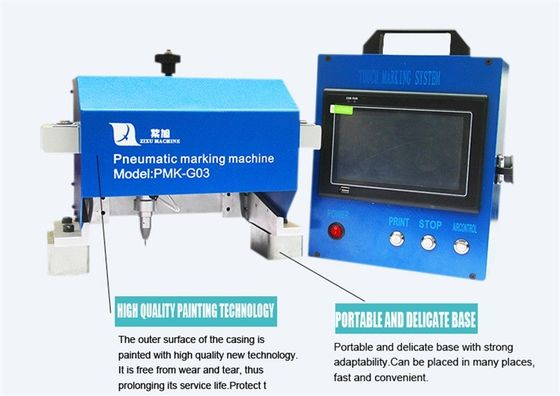 China FDA Portable Dot Peen Marking Machine For Vin Number / Chassis Number distributor
